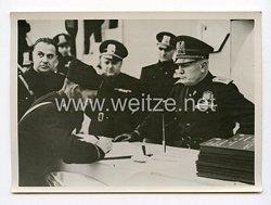 III. Reich Pressefoto. Mussolini bei den Frontkämpfer-Bauern. 1.11.1941.