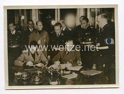 III. Reich Pressefoto. Bildtelegramm aus Wien von der Unterzeichnung des Wiener Schiedsspruches. 2.11.1938.