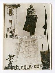 III. Reich Pressefoto. Ein Denkmal des Grafen Costanzo Ciano. 21.9.1940.