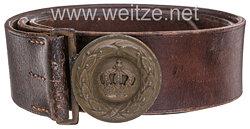 Königreich Bayern Lederfeldbinde feldgrau für Offiziere ab 1914