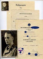 """Waffen-SS - Dokumenten- und Fotogruppe für einen späteren SS-Untersturmführer in der 6. SS-Gebirgsdivision """" Nord """""""