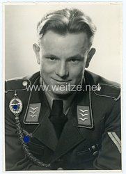 Luftwaffe Portraitofoto, Unteroffiziersanwärter mit Schützenschnur