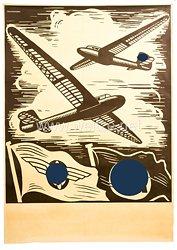 """III. Reich / DLV - schwarz-weiß Plakat - """" Segelflugtag """""""