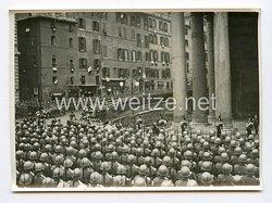 III. Reich Pressefoto. Die feierliche Königs und Heldenehrung in Rom. 4.5.1938.