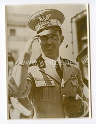 III. Reich Pressefoto. Das italienische Heer in zwei Armeegruppen aufgeteilt: Kronprinz Umberto erhält Oberbefehl über die 1. Armeegruppe. April 1939.