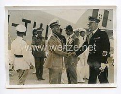 III. Reich Pressefoto. Graf Ciano wieder in Rom. 14.8.1939.