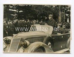 III. Reich Pressefoto. Viktor Emanuel auf Sizilien. 14.1.1943.