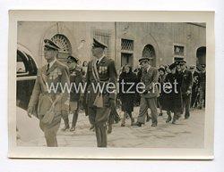 III. Reich Pressefoto. Der Duce im Trauerzug für Bruno Mussolini. 9.8.1941.