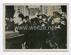 III. Reich Pressefoto. Das Staatsbegräbnis für den Vater des italienischen Aussenministers. 29.6.1939.