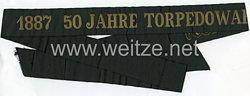 "Kriegsmarine Traditions-Mützenband ""1887 50 Jahre Torpedowaffe 1937"""