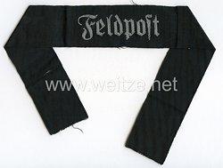 """Wehrmacht Heer Ärmelband """"Feldpost"""" für Offiziere"""