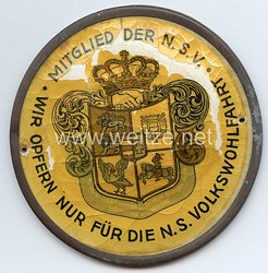 III. Reich - NSV - Türplakette -