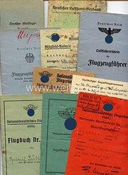 DLV / NSFK - Dokumentengruppe für einen späteren NSFK-Truppführer der Gruppe 10 Münster i.W.