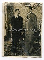 III. Reich Pressefoto. Zusammenkunft der Aussenminister Italien und Ungarns in Venedig. 8.1.1940.