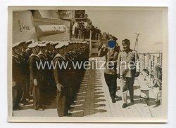 III. Reich Pressefoto. Die Grosse Flottenparade vor dem Führer in Neapel. 6.5.1938.