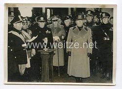 III. Reich Pressefoto. Der Duce ehrte die gefallenen faschistischen Eisenbahner. 26.3.1939.