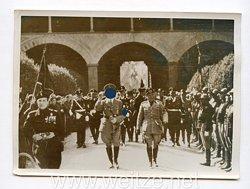 III. Reich Pressefoto. Gefallenenehrung in Florenz. 9.5.1938.