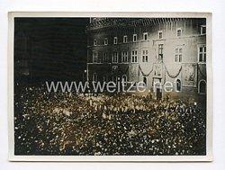 III. Reich Pressefoto. Die Botschaft vom Pallazo Venezia. 8.5.1938.