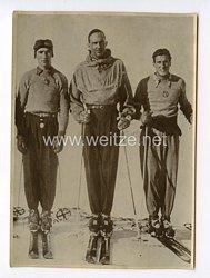 III. Reich Pressefoto.Italiens Kronprinz Umberto beim Wintersport. 30.1.1940.