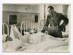III. Reich Pressefoto. Der Herzog von Piemont besuchte verwundete italienische Soldaten. 22.1.1941.