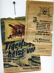Kriegsmarine Ehrennadel des Tigerverbandes