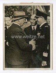 III. Reich Pressefoto. Generalfeldmarschall Göring verlässt Rom. 18.4.1939.
