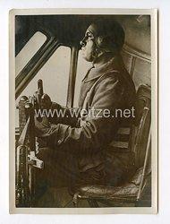 III. Reich Pressefoto. Benito Mussolini als Pilot