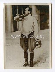 III. Reich Pressefoto. Benito Mussolini beim Fechten