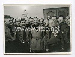 III. Reich Pressefoto.Galeazzo Cianomit italienischen Faschisten