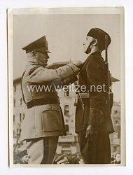 """III. Reich Pressefoto. Mussolinis """"Musketiere"""". 15.2.1940."""