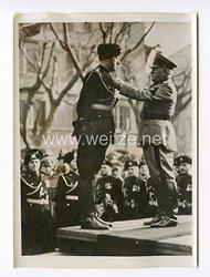 III. Reich Pressefoto. Die Musketiere des Duce feierten ihr 17 Jubiläum. 15.2.1940.