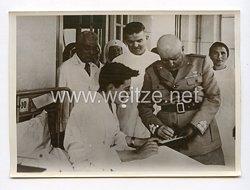 III. Reich Pressefoto. Der Duce besucht verwundete italienische Soldaten. 9.7.1940..