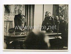 III. Reich Pressefoto. Mussolini eröffnet Roms Filmlehranstalt.