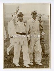 III. Reich Pressefoto.Große Manöver der italienischenWehrmacht in der Po-Ebene. 2.8.1939.