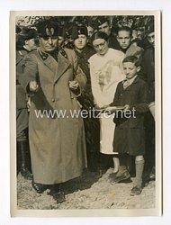 III. Reich Pressefoto. Mussolini, der Erneuerer Italiens als Sämann. 31.8.1937.