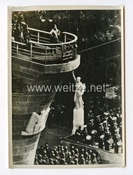 III. Reich Pressefoto. Die Grosse Rede des Duce in Genua. 15.5.1938.