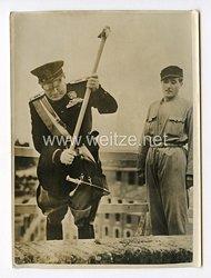 III. Reich Pressefoto. Einweihung der 5. Gemeinde im Pontinischen Acker in Italien. 31.10.1939.