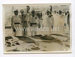 III. Reich Pressefoto. Der Duce weiht den neuen Tibet-Kanal ein. 15.8.1940.