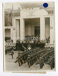 III. Reich Pressefoto. Die große Demonstration der Wehrkraft Italiens vor dem Führer.