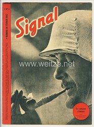 """Signal - Sonderausgabe der """" Berliner Illustrierten Zeitung """" - Jahrgang 1942 Heft Nr. F 3 ( französisch )"""