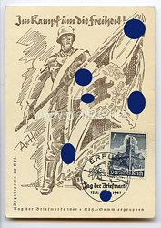 """III. Reich - Propaganda-Postkarte - """" Im Kampf um die Freiheit ! """""""