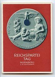 """III. Reich - farbige Propaganda-Postkarte - """" Reichsparteitag des Friedens Nürnberg 2.-11.9.1939 """""""