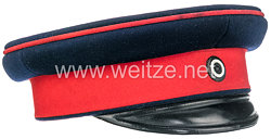 Preußen Schirmmütze für einen Unteroffizier der Infanterie, wahrscheinlich1. Oberrheinisches Infanterie-Regiment Nr. 97