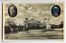 """III. Reich - Propaganda-Postkarte - """" Hindenburg - Adolf Hitler ' Kroll-Oper zu Berlin ' derzeitiger Tagungsort des Reichstages """""""