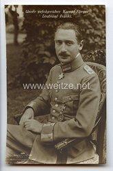 "Fliegerei 1. Weltkrieg - Fotopostkarte  - Deutsche Fliegerhelden "" Leutnant Frankl """