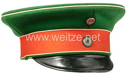 Preußen Schirmmütze für einen Offizier im 2. Westfälischen Husaren-Regiment Nr. 11