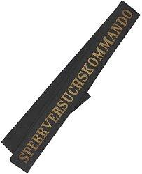 """Reichsmarine Mützenband """"Sperrversuchskommando"""" in Gold"""