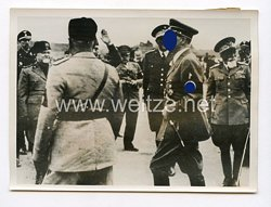 III. Reich Pressefoto. Der Führer und der Duce treffen zur Großen Jugendkundgebung in Centocelle ein. 4.5.1938.