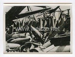 III. Reich Pressefoto. Unschädlich gemacht. Französische Granaten, die gegen Deutschland nicht mehr verwendet werden. 30.6.1940.