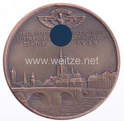 """NSFK silberne Erinnerungs-Medaille """"Erste Internationale Luftrennen Frankfurt a.M. 30.-31.Juli 1938"""""""